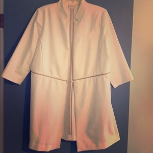 Chico's city chic long white jacket